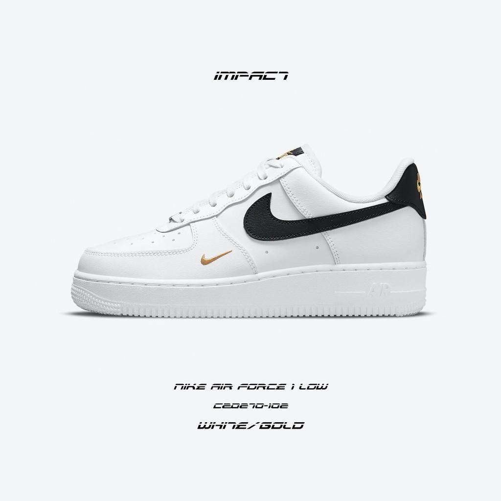 Nike Air Force 1 日本限定 白 黑 金 皮革 金勾 黑勾 CZ0270-102 IMPACT