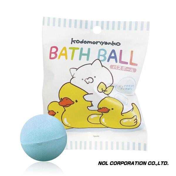 日本 NOL 小貓(Line貼圖)入浴球Ⅱ|沐浴球|泡澡球【麗兒采家】