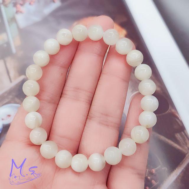 【素珠系列】奶油月光石手珠