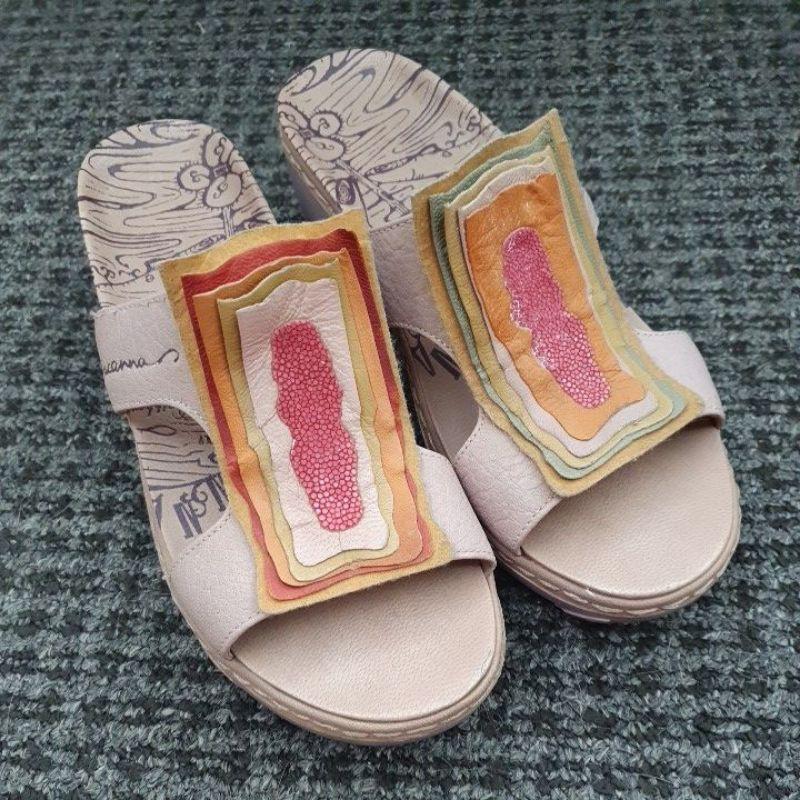 Macanna 麥坎納 全新二手 真皮厚底涼鞋拖鞋女鞋 尺寸7.5 24.5 37.5