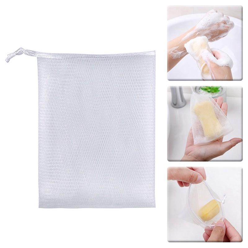 達利恆1Pcs肥皂泡罩網雙層肥皂網易氣泡袋風起泡沫氣泡皮膚清潔工具香皂