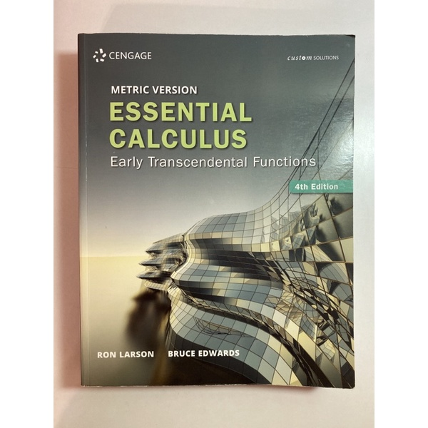 Essential Calculus Early Transcendental functions Larson 微積分