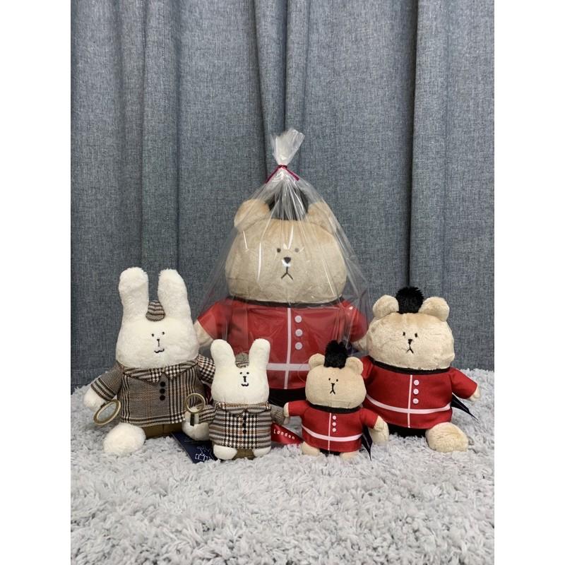 宇宙人新款🇬🇧衛兵熊💂♀️偵探兔🕵️♀️坐姿玩偶 抱枕 娃娃 英國 Craftholic World Tour 英倫