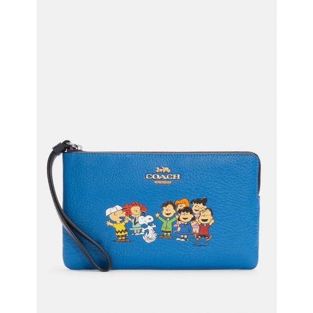 咩兒美國代購🌈Coach x Peanut 史努比 聯名款 史努比Snoopy與朋友 中款手拿包