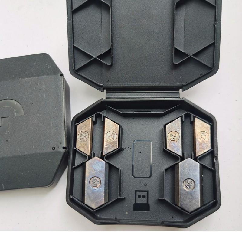 【台灣現貨】羅技G502無線遊戲鼠標創世者lightspeed原裝砝碼配重 腳貼 接收器