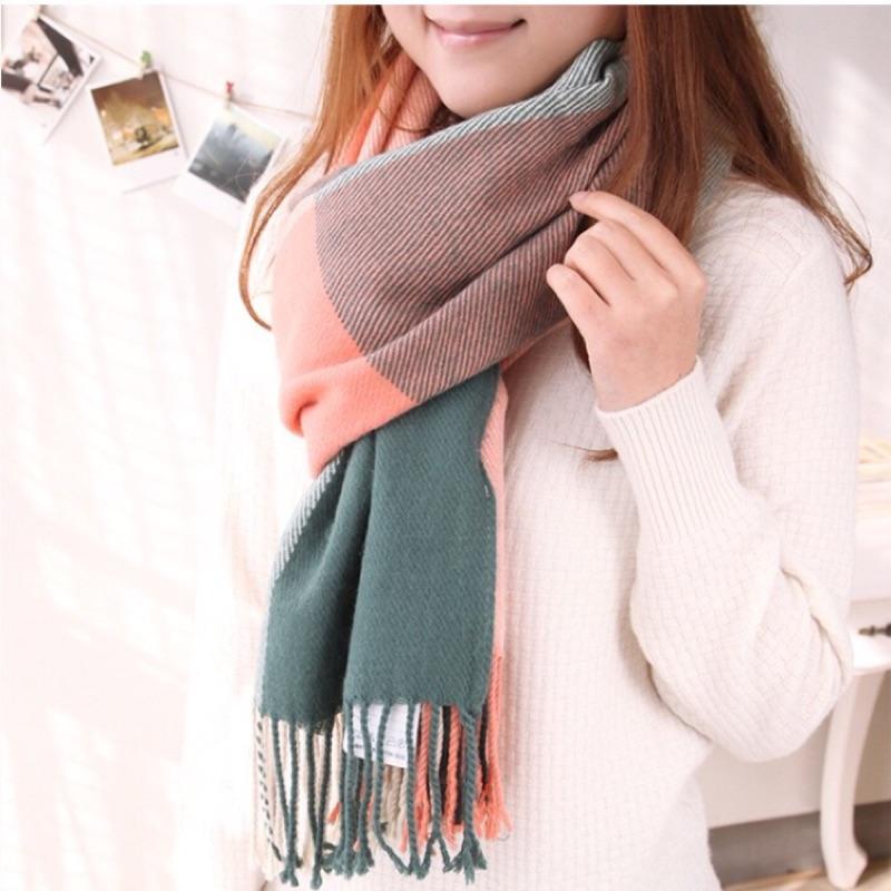 •DMOH•英倫風寬版針織長圍巾