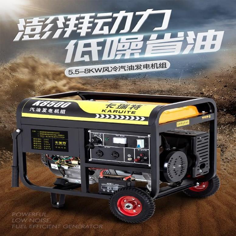 特惠#家庭發電機家用小型汽油澆地發動機迷你靜音110v便攜式220v戶外的