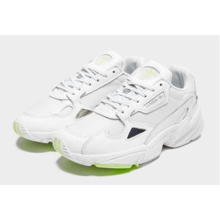 愛迪達 Adidas Falcon 老爹鞋 白色 歐美限定 青蘋果綠 女鞋