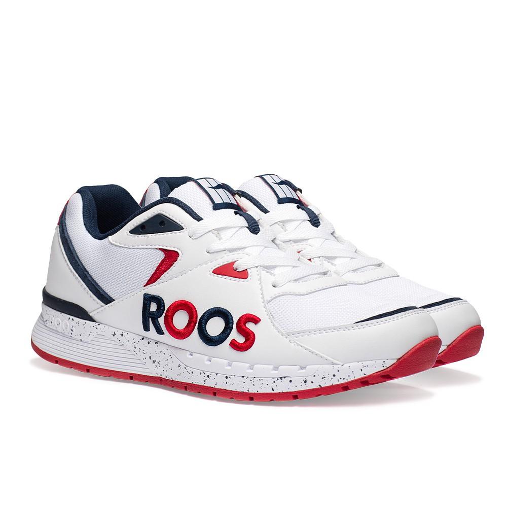 KANGAROOS 女 RUNAWAY ROOS復古跑鞋 (白藍紅 KW91079)