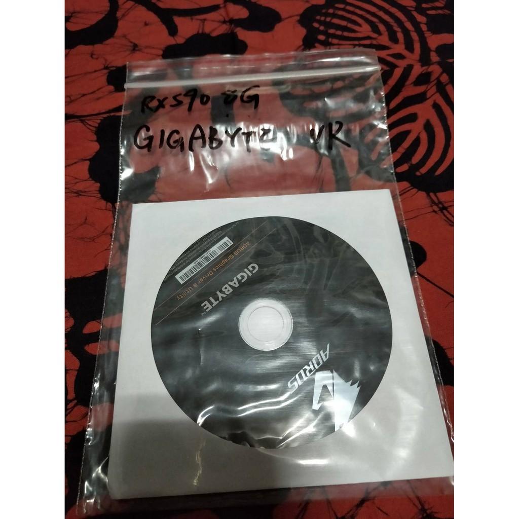 AORUS GIGABYTE顯示卡驅動程式光碟/RX590 8G可用