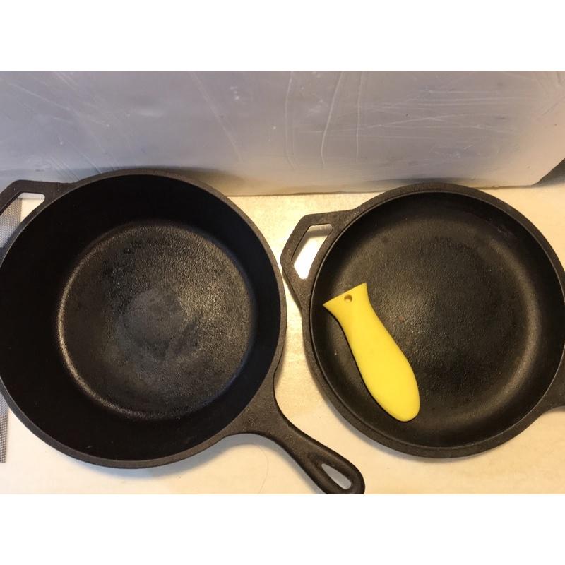 COSTCO LODGE 雙柄鑄鐵鍋/湯鍋 3件組 有點生鏽