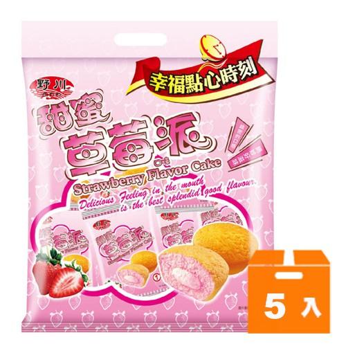 野川 甜蜜草莓口味派 (19gx12入)x5袋/箱 【康鄰超市】