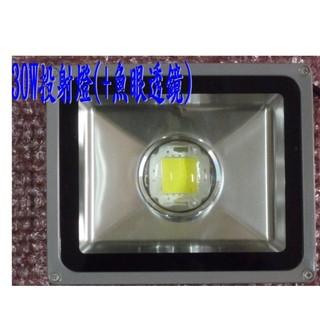 [陞麟照明] LED 30W+魚眼透鏡(不炫光) LED 投射燈 3000流明 晶芯:CREE 高雄市