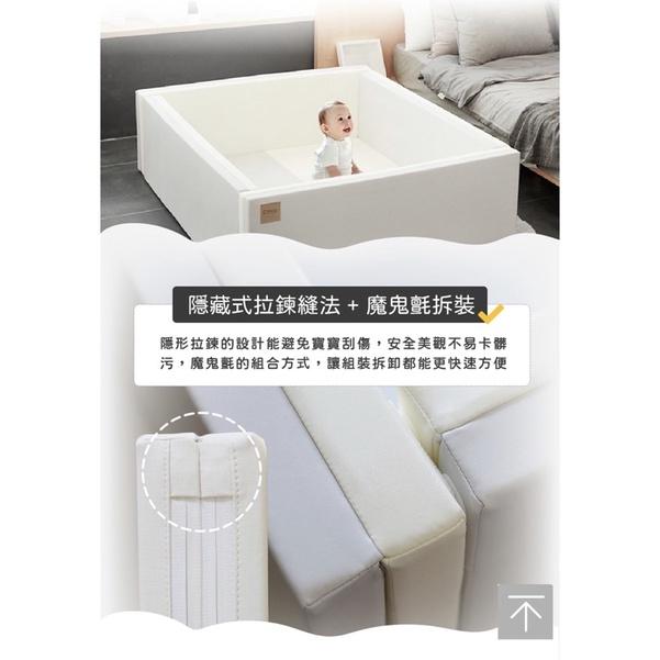 九成新 Caraz 韓國寶寶遊戲城堡圍欄 - 溫暖灰白 Secret Grey