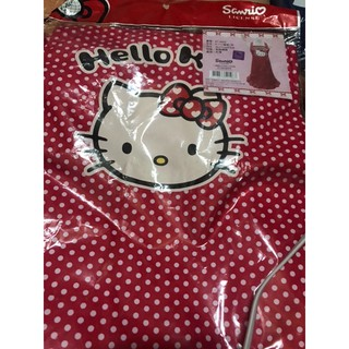 日本授權台灣 限定版Hello Kitty造型緞帶圍裙 三麗鷗 、86*71公分 臺北市