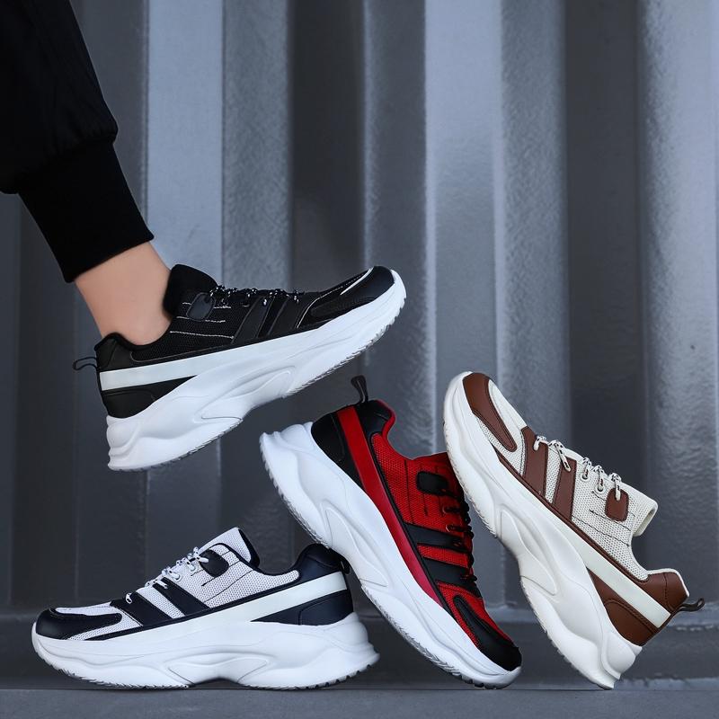 Stabil Lelaki運動鞋跑步休閒運動Lelaki Bernafas Luar Biasa Plus Saiz L