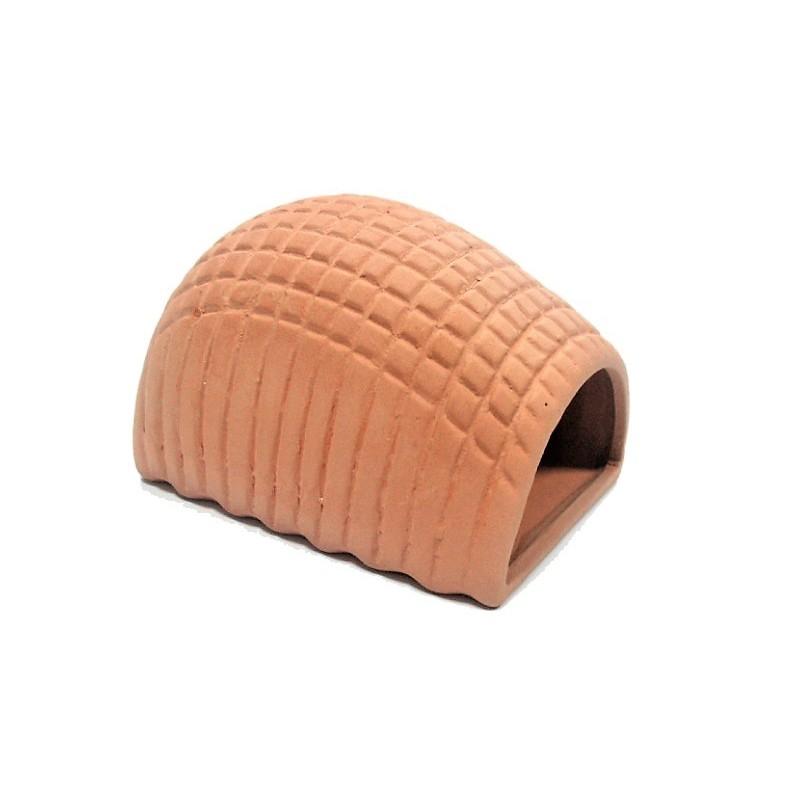 ◆蔚藍水族工坊◆ $40~45/個 短雕用大饅頭 (磚色) 螯蝦 異形 繁殖 產卵 躲藏 造景 裝飾 陶甕