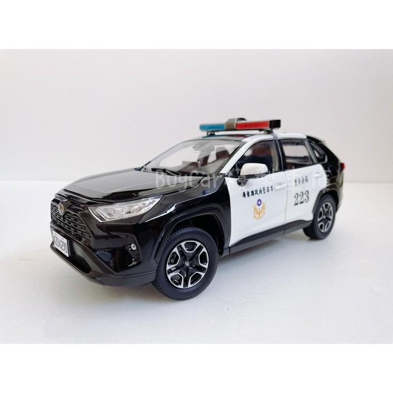 BuyCar模型車庫 1:18 Toyota RAV4 Police 警車模型車 警察1/18