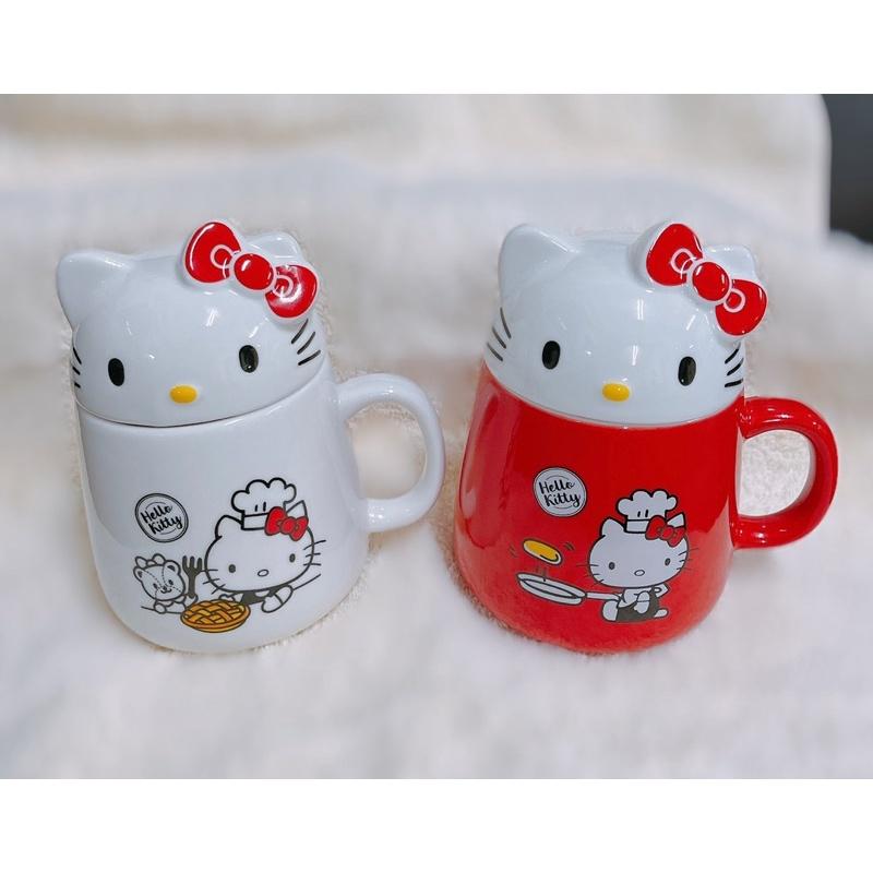 特價 85度C hello kitty 凱蒂貓 造型馬克杯 立體杯蓋