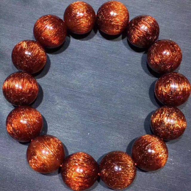 《佑佑水晶》《 銅髮晶手珠 17mm$62800》#紅銅鈦手珠 #紅髮晶 #貓眼水晶