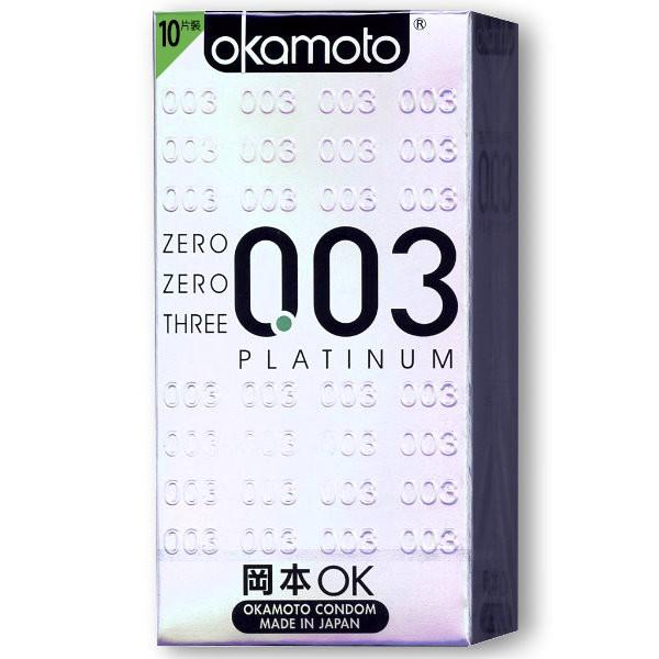 (Okamoto) 岡本衛生套 - 003白金版衛生套(10入) - 113053【情夜小舖】
