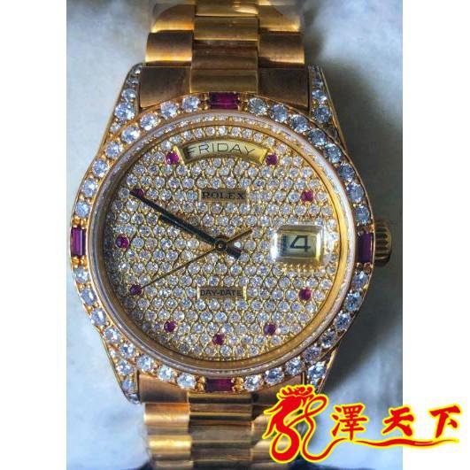 勞力士手錶 18038 流當品 品相如新 男款 男錶 滿天星 18K金 星期窗 日曆窗