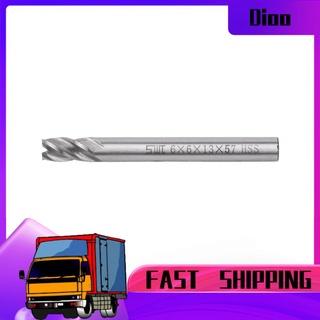 DIOO 2pcs HSS 6mm 4刃端銑刀金屬切割雕刻銑床鑽頭CNC工具