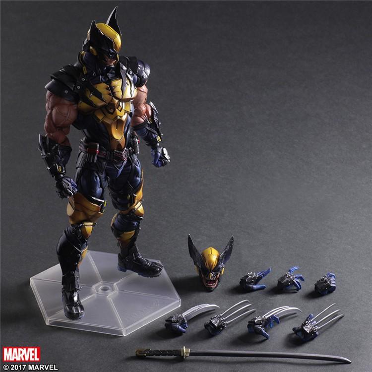 【可動】Play Arts 金鋼狼 Wolverine X戰警 變種人 羅根 Logan