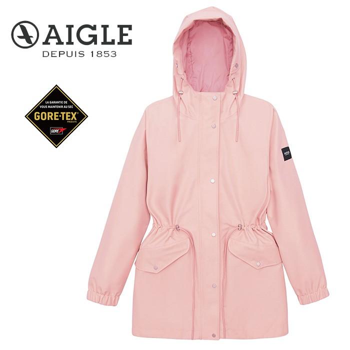 【AIGLE 法國】ANIKER GORE-TEX 防水外套 風衣 女款 粉紅色 (AG-0A209-A011)