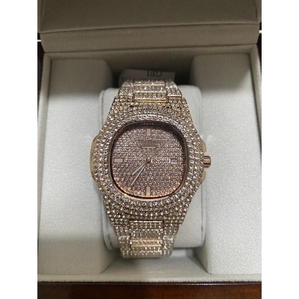 PINTIME玫瑰金手錶