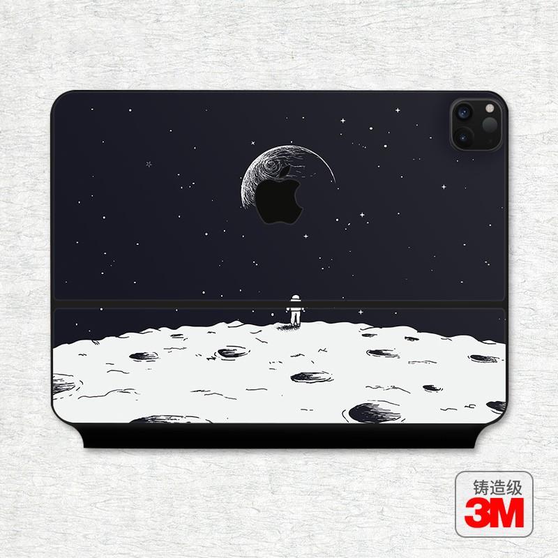 適用2021款蘋果iPad Pro12.9英寸妙控鍵盤貼膜m1平板電腦創意保護貼紙11寸蘋果外殼mac無線鍵盤背面保護膜