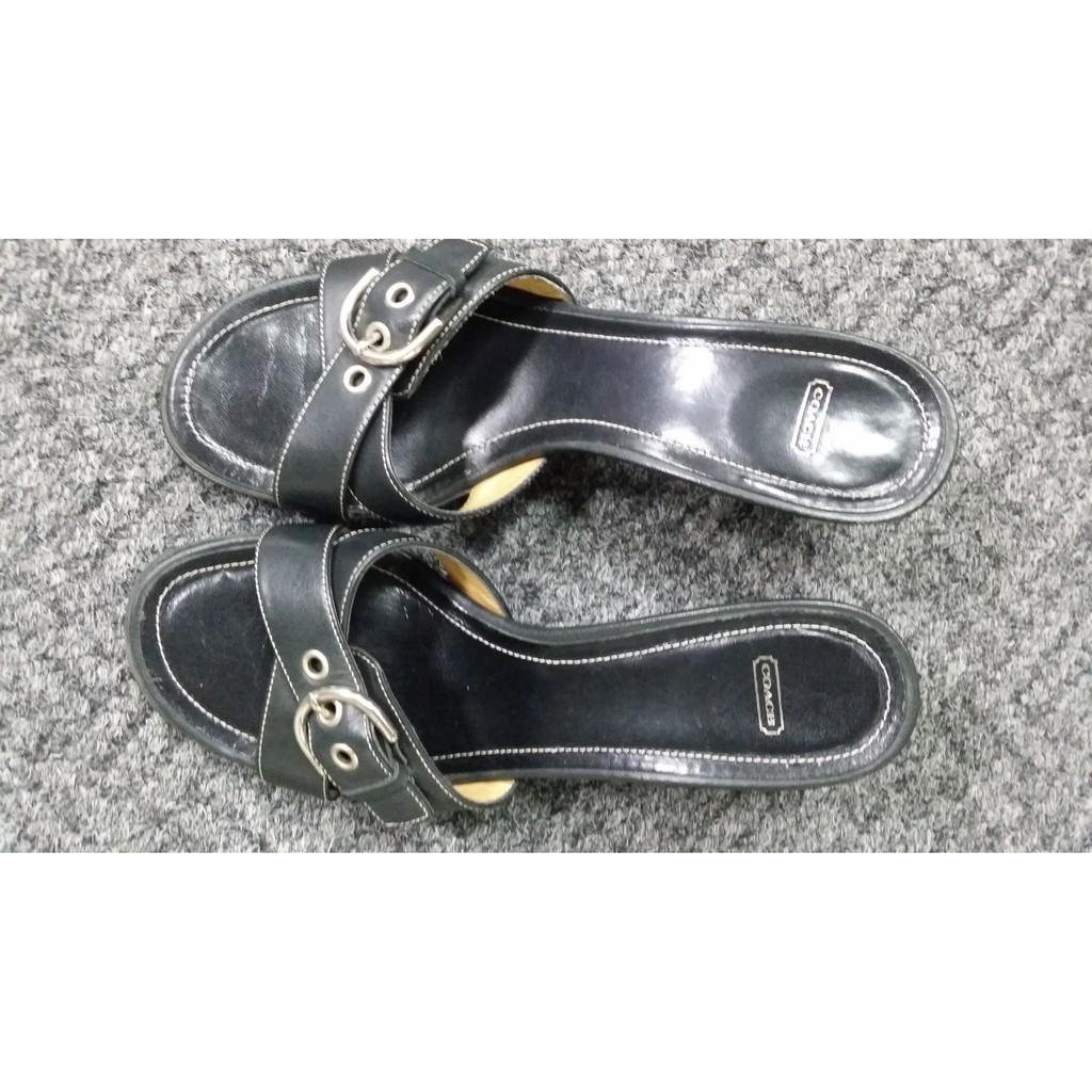 COACH 二手涼鞋 拖鞋 23.5號