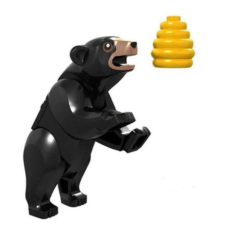 磚塊積木-H006黑熊/狗熊/城市系列相容LEGO 非樂高60173