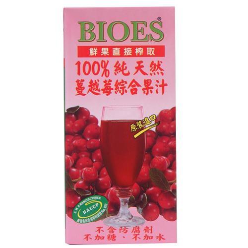 囍瑞BIOES100%純天然蔓越莓綜合果汁1000ml【愛買】
