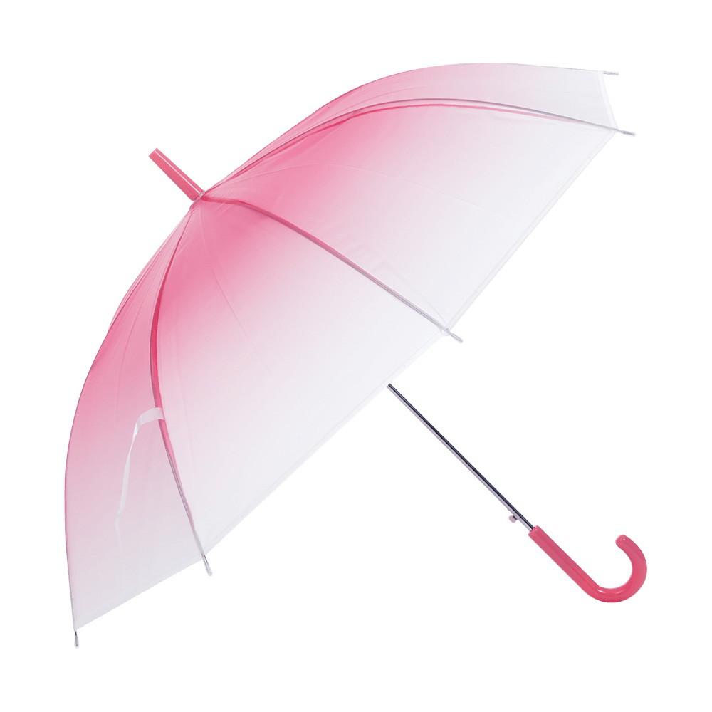 麗尚秀 彩色磨砂系列 糖果色漸層長柄直傘《紅》晴雨傘 太陽傘 遮陽傘 雨傘 防潑水 自動傘 彎把傘【FA247】