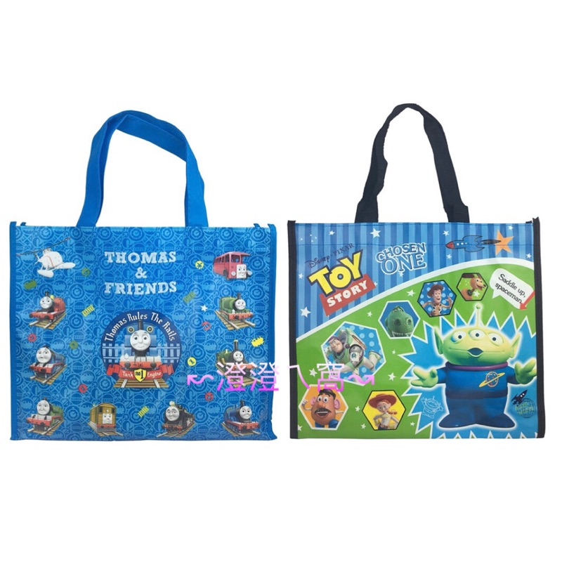 ↜澄澄ㄟ窩↝(現貨)Thomas 湯瑪士小火車 三眼怪 玩具總動員手提購物袋