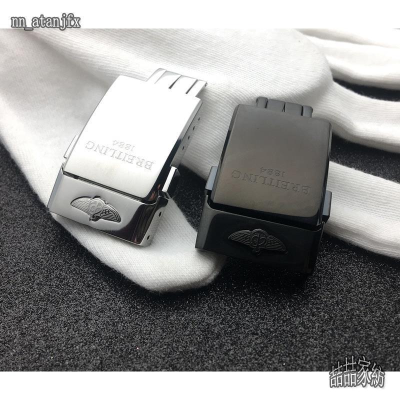 🔥 適配Breitling 百年靈表扣1884原裝表扣皮帶橡膠帶折疊扣20mm