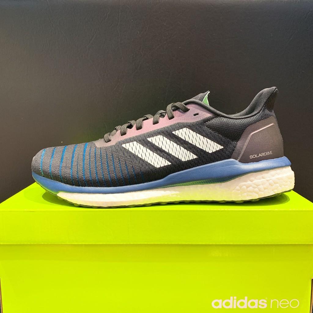 Obbligatorio Acqua di seltz polo  adidas Solar Drive 男生黑藍色慢跑鞋D97442   蝦皮購物