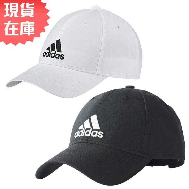 Adidas 6-Panel 3-S 帽子 老帽 黑 / 白 【運動世界】 S98159 / BK0794