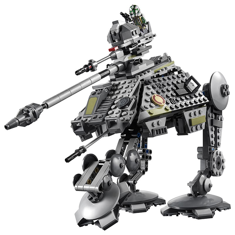 [7-8]兼容樂高星球大戰AT-AP全地形攻擊步行機75234拼裝積木玩具11424