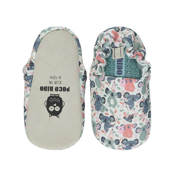 英國 POCONIDO 手工鞋 嬰兒鞋 學步鞋-抱抱無尾熊(藍色)(6~24M)【麗兒采家】