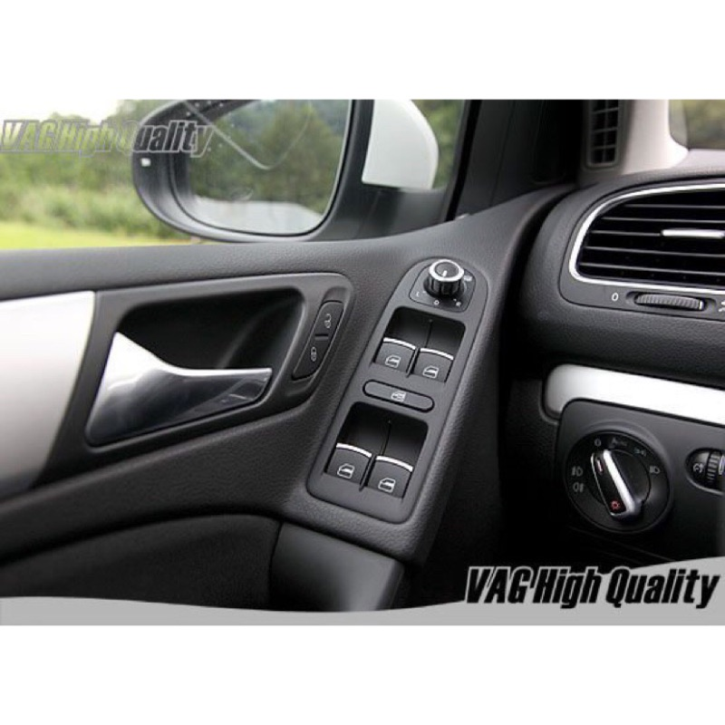VW 福斯 鍍鉻 後視鏡 電動窗 車窗 開關 GOLF5 6 Passat B6 CC Touran Tiguan