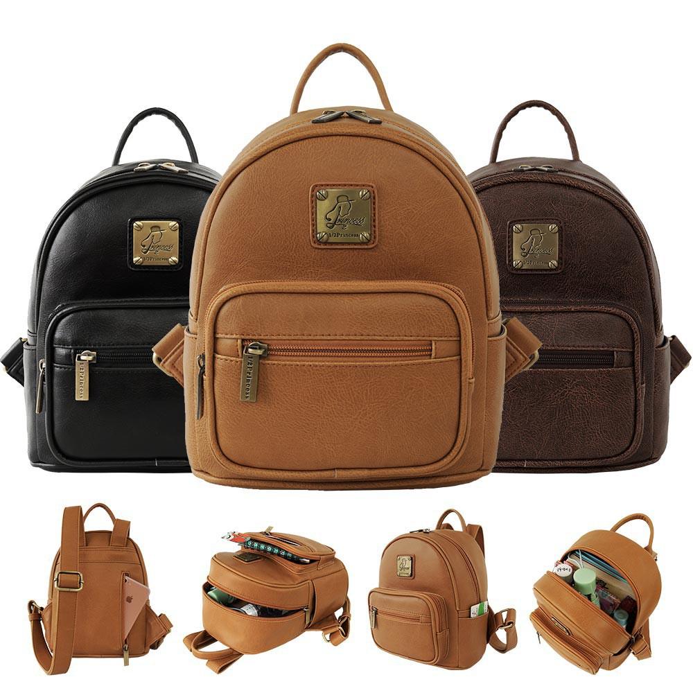 1/2princess二代升級版復古皮革簡約風尚MINI後背包-3色 A2766 廠商直送 現貨