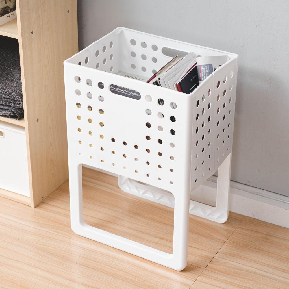 多功能摺疊收納籃 萬用可提置物籃 透氣 髒衣籃 洗衣籃 可折疊 浴室收納 防水 玩具收納 現貨 蝦皮直送