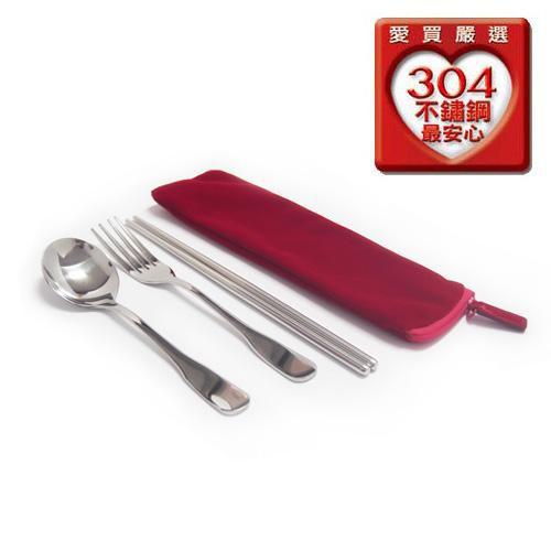 KLJ304不鏽鋼三件式餐具組【愛買】