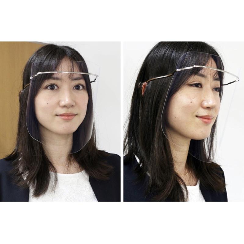 日本代購日本製最新款防霧輕量郭董SHARP 鈦合金 防護面罩 FG-800M