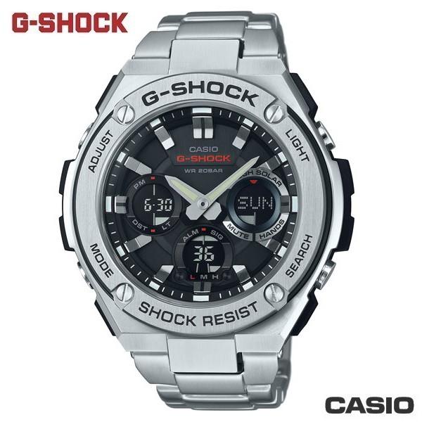 【G-SHOCK】GST-S110D-1A 太陽能G-STEEL金屬系列/52mm/不鏽鋼銀x不鏽鋼錶帶【第一鐘錶】