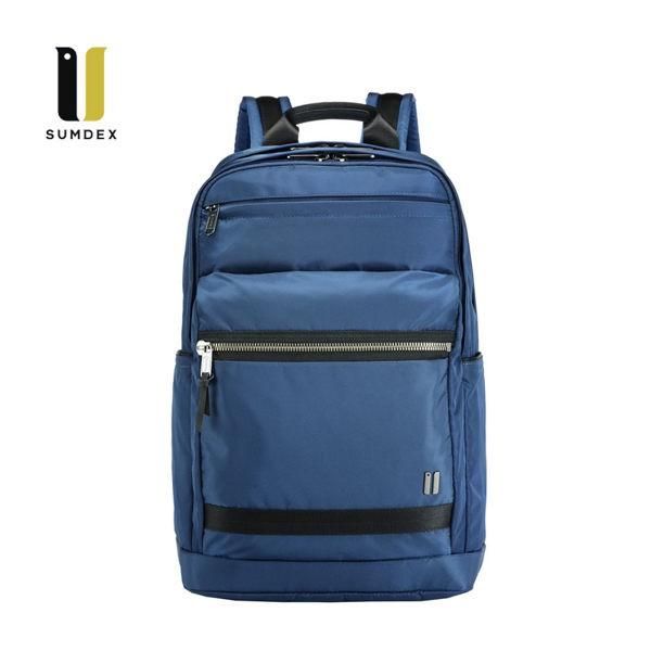 SUMDEX 15.6吋+10吋平板 商務後背包NON-795BU藍色