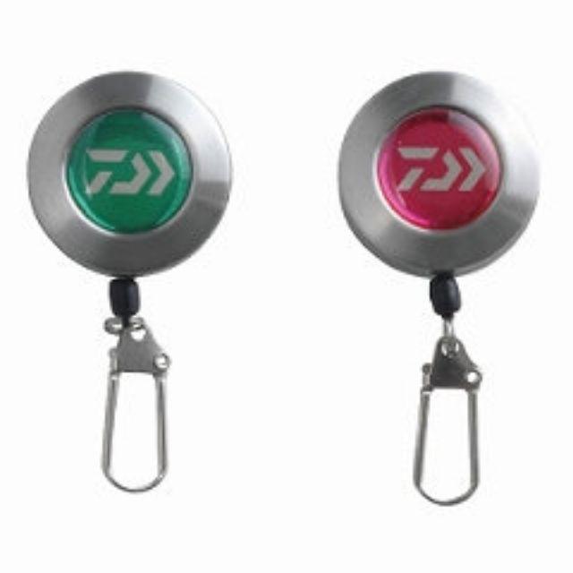 =佳樂釣具=DAIWA 伸縮扣環 PIN-ON-REEL 1000 紫紅/綠 別針式 單扣環 繩長約100cm