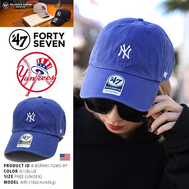 f087f54901e6  SREY帽屋 預購☆47 Brand CLEAN UP MLB 紐約洋基YANKEES 日本限定小圖棒球帽老帽